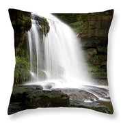 Cauldron Falls, West Burton, North Yorkshire Throw Pillow
