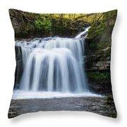Cauldron Falls,west Burton, North Yorkshire. Throw Pillow