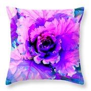 Cauliflower Abstract #8 Throw Pillow