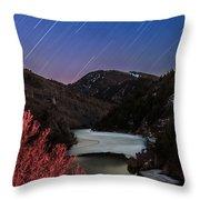 Raining Stars Throw Pillow