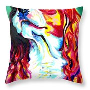 Cavalier - Herald Throw Pillow by Alicia VanNoy Call