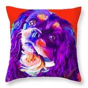 Cavalier King Charles Spaniel 2 Throw Pillow