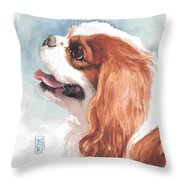 Cavalier Profile Throw Pillow