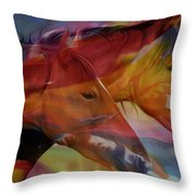 Cavalos Throw Pillow