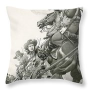 Cavalry Charge Throw Pillow