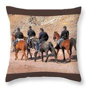 Cavalry Rides Throw Pillow