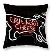 Cave Aged Cheese Throw Pillow