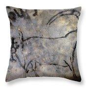 Cave Art: Ibex Throw Pillow