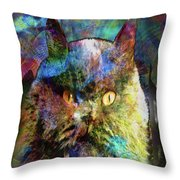 Cave Cat Throw Pillow