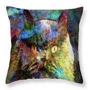 Cave Cat Throw Pillow