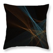 Cave Computer Graphic Line Pattern Throw Pillow