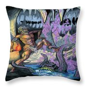 Cave Creature Throw Pillow
