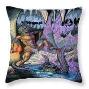 Cave Creature Throw Pillow