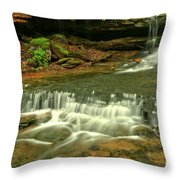Cave Falls Landscape Throw Pillow