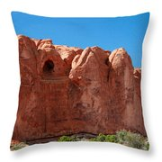 Cave Formation Arches National Park Throw Pillow