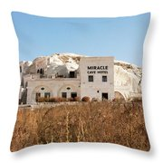 Cave Hotel Throw Pillow