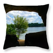 Cave In Rock Throw Pillow