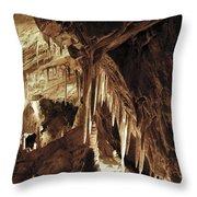 Cave Interior Throw Pillow