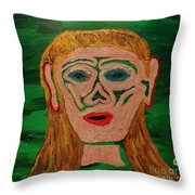 Cave Lady Throw Pillow