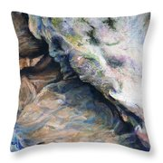 Cave Of Many Colors Throw Pillow