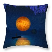 Cave Of Secrets Throw Pillow