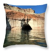 Cave Opening At Lake Powell Throw Pillow