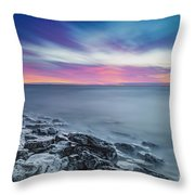 Cave Point Sunrise Throw Pillow