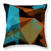 Cave Polygon Pattern Throw Pillow
