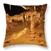 Cave Reflections Throw Pillow