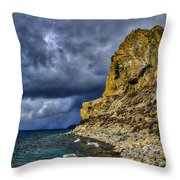 Cave Rock Color Throw Pillow