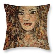Cave Woman Throw Pillow