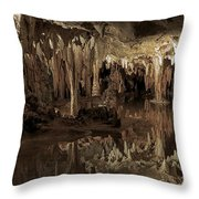 Cavern Reflections Throw Pillow