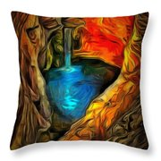 Cavernous Pool In Ambiance Throw Pillow
