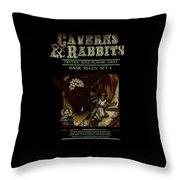 Caverns And Rabbits Throw Pillow
