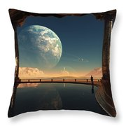Caves Of Tau Ceti Throw Pillow