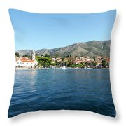 Cavtat, Croatia Throw Pillow
