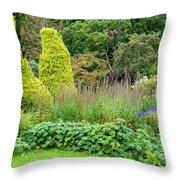 Cawdor Castle Garden Throw Pillow
