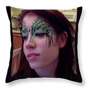 Cayce Dragon Princess Throw Pillow