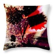 Cayenne Floral Throw Pillow