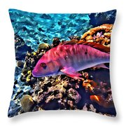 Cayman Snapper Throw Pillow