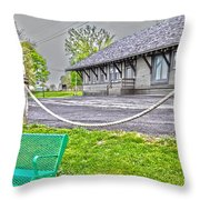 Cayuga Offices Throw Pillow