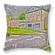Cayuga Rail Crossing Throw Pillow