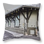 Cayuga Town Hall Throw Pillow