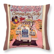 Cc With Riders Throw Pillow