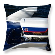 Fins Of A 1956 Sea Lark Boat Throw Pillow