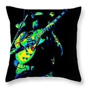 Cdb Winterland 12-13-75 #1 Enhanced In Cosmicolors Throw Pillow