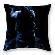 Cdb Winterland 12-13-75 #11 Enhanced In Blue Throw Pillow
