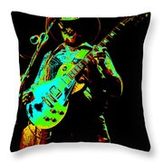 Cdb Winterland 12-13-75 #4 Enhanced In Cosmicolors Throw Pillow