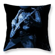 Cdb Winterland 12-13-75 #51 Enhanced In Blue Throw Pillow