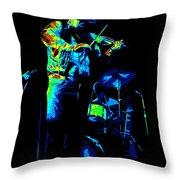 Cdb Winterland 12-13-75 #7 Enhanced In Cosmicolors Throw Pillow